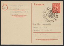"""Mi-Nr. P955, Saubere Bedarfskarte Mit Text In Die USA, Sst """"Hannover-Messe"""", O - Gemeinschaftsausgaben"""