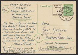 "Mi-Nr. P959, Bedarf ""Cuxhaven"", 10.1.47, Viel Text, Noch Nachgesandt, O - Gemeinschaftsausgaben"