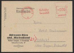 """""""Gebühr Bezahlt"""", Apt. Absenderfreistempel D. Reichspost """"Osnabrück"""", 22.6.46 - Bizone"""