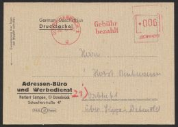 """Gebühr Bezahlt"", Apt. Absenderfreistempel D. Reichspost ""Osnabrück"", 22.6.46 - Zona Anglo-Americana"