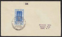 """Mi-Nr. 72, """"Kölner Dom"""", EF Auf Brief In Die USA, - American/British Zone"""
