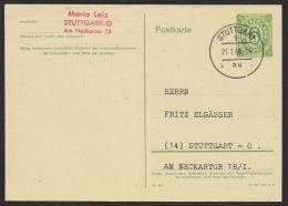 "Mi-Nr. P 900 A, Ortskarte ""Stuttgart"", 21.1.46, Kein Text, O - Bizone"