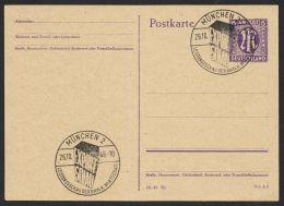 """Mi-Nr. P 903 II /05, Sehr Seltene Variante, Sst. München- Expo"""", 26.10.46, O - Bizone"""