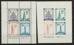 """Baden, Mi-Nr. Block 1A/B, """"Freiburg""""- Blockpaar, Farbe Etwas Blass, ** - Französische Zone"""