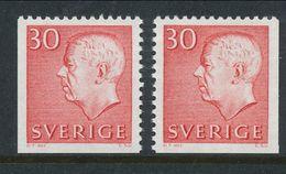 Sweden 1966 Facit # 423 D3 + D4,  Gustaf VI Adolf, Type III, MLN(*) - Schweden