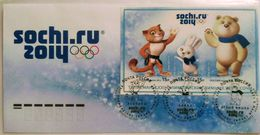 1682 Russia 2012. XXII Olympic Winter Games In Sochi 2014. Mascots. FDC Moscow Postmark - 1992-.... Federazione
