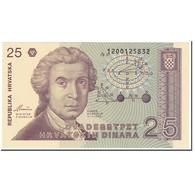 Billet, Croatie, 25 Dinara, 1991, 1991-10-08, KM:19b, NEUF - Croatie