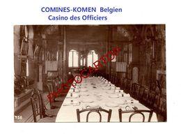 COMINES-KOMEN-Belgien-Casino Des Officiers-Interieur-PHOTO Mate All.-Cliche 456-Inf. Regt.182-GUERRE 14-18-1 WK-Militari - Comines-Warneton - Komen-Waasten