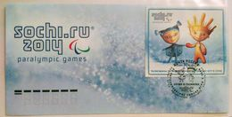 1683 Russia 2012. XI Paralympic Winter Games In Sochi 2014. Mascots. FDC. Moscow Postmark - 1992-.... Federazione