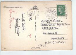 U1682 Nice Timbre (Flamme) EPARGNE ORGEMENT 1972 On Paris, Postcard - Notre Dame - Notre Dame De Paris