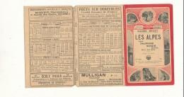 38 // HORAIRES DES GUIDES BRICET    LES ALPES LYON DAUPHINE SAVOIE GENEVE   ROUTE DES ALPES - Old Paper