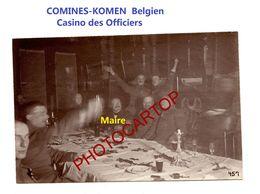 COMINES-KOMEN-Belgien-Casino Des Officiers-MAIRE-PHOTO Mate All.-Cliche 457-Inf. Regt.182-GUERRE 14-18-1 WK-Militaria- - Comines-Warneton - Komen-Waasten