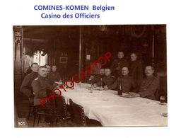 COMINES-KOMEN-Belgien-Casino Des Officiers-PHOTO Mate Allemande-Cliche 501-Inf. Regt.182-GUERRE 14-18-1 WK-Militaria - Comines-Warneton - Komen-Waasten