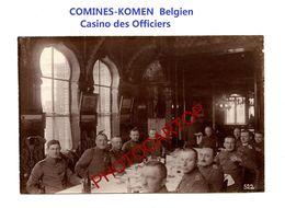 COMINES-KOMEN-Belgien-Casino Des Officiers-PHOTO Mate Allemande-Cliche 522-Inf. Regt.182-GUERRE 14-18-1 WK-Militaria- - Comines-Warneton - Komen-Waasten
