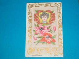 Illustrateur ) Les Bijoux Modernes ( Agrafe  )  Art Nouveaux - Style Mucha - Sans Signature  - Année : EDIT : - 1900-1949