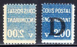 N° 145 Neuf** (Colis Postaux Variétés: RECTO-VERSO + Piquage à Cheval)  COTE= + 120 Euros !!! - Colis Postaux