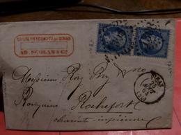 27.01.18-  Sur N°22 Pour Planchage , LAC De  Dinan - 1862 Napoleon III