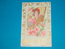 Illustrateur ) Les Bijoux Modernes ( Eventail )  Art Nouveaux - Style Mucha - Sans Signature  - Année : EDIT : - 1900-1949
