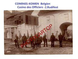 COMINES-KOMEN-Belgien-Casino Des Officiers-PHOTO Mate Allemande-Cliche 547-Inf. Regt.182-GUERRE 14-18-1 WK-Militaria- - Comines-Warneton - Komen-Waasten