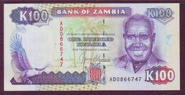ZAMBIE - 100 KWACHA Président K. Kaunda - ND 1991 - P.34a - NEUF/UNC - Zambia