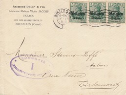 Pli Bruxelles -enveloppe Tabacs Raymond Delin & Fils - WW I