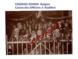 COMINES-KOMEN-Belgien-Casino Des Officiers-3eme Rudifest-PHOTO Mate All.-Cliche 566-Inf. Regt.182-GUERRE 14-18-1 WK-Mili - Comines-Warneton - Komen-Waasten