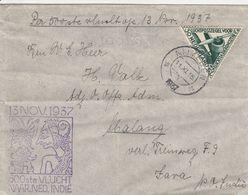 Pays Bas Lettre Aviation Pour Java 1937 - Poststempels/ Marcofilie