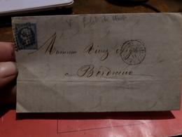 27.01.18-  Sur N°22 Pour Planchage , LAC De  Bordeaux A Lyon Ambulant - 1862 Napoleon III