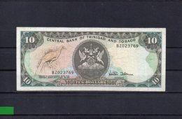 TRINIDAD Y TOBAGO 1985, 10 DOLLARS, P-37d, CIRCULADO, 2 ESCANER - Trinidad & Tobago