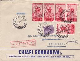 Brief Von Milano In Die Schweiz (br2628) - 6. 1946-.. Republic