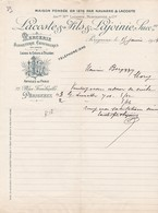 Lettre Lacoste Et Lajoinie Périgueux 1914 - France