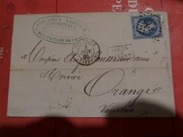 27.01.18-  Sur N°22 Pour Planchage , LAC De  Bordeaux - 1862 Napoleon III