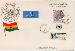 Ghana 1967, Registered FDC S/s UN. (Cv Sheet Only Is Already 15 Euro) - Ghana (1957-...)