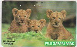 JAPAN - FREECARDS-3049 - 110-112656 - LION - SAFARI PARK - Japan