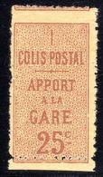 N° 7 Neuf* (Colis Postaux Variété: Dentelés 3 Côtés + Piquage à Cheval)  RARE !!! - Mint/Hinged