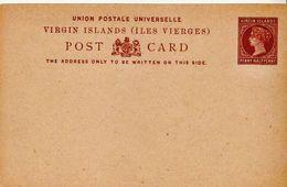 Virgin Islands Mint Postcard Queen Victoria - Great Britain (former Colonies & Protectorates)