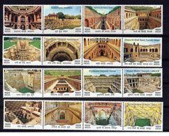 INDIA 2017 Stepwell Architectural Heritage Architecture  16v Se-Tenant MNH - Architecture