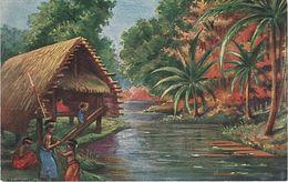 Litho AK Kolonialkriegerdank Neumecklenburg Neu Mecklenburg Südsee Deutsche Kolonie Schutzgebiet Deutsch Papua Neuguinea - Papouasie-Nouvelle-Guinée