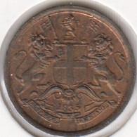 @Y@    Brits India   1/12 Anna   1835   AUNC    (2742) - Inde
