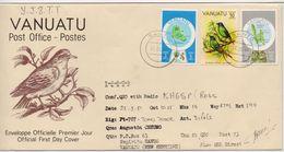 Vanuatu 1981, Special Cover. Birds, With Radio-callsign And Details. - Vanuatu (1980-...)