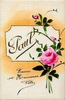 CPA Prénom Non Circulé Peinte à La Main Fleurs Paul - Nombres