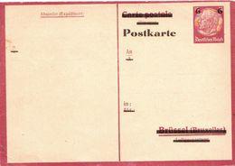 Germany / Deutsches Reich Mint Overprinted Belgien (?) Postcard - Occupation 1938-45
