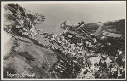 Aerial View, Polperro, Cornwall, 1952 - Aero Pictorial RP Postcard - England
