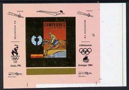 Guinea Equat. 1994, Olympic Games In Munich V, Overp. Atlanta 96, Lillehammer 94, Horse Race, Concorde, Gold In De Luxe - Zomer 1996: Atlanta
