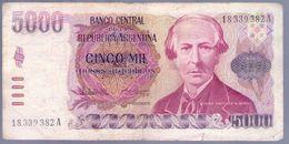ARGENTINA - BILLETE DE 5000 PESOS ARGENTINOS  (#382) - Argentina