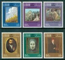 1974 Libano Lebanon Quadri Paintings Peintures Set MNH** Fo34 - Libano