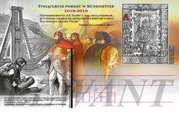 POLAND Postcard 2018.01.30. Cp 1800 The Millennium Of Peace In Budziszyn 1018-2018 - King Chrobry, Horses - Interi Postali