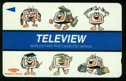 SO Telefonkarte Singapur - Singapore Telecom 2$ , Teleview Worlds First Photovideotex Service - Singapour