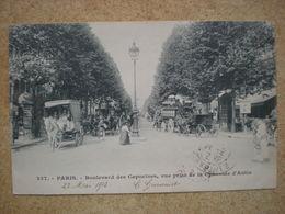1 CPA  75 PARIS Boulevard Des Capucines Vue Prise De La Chaussée D'Antin - Francia