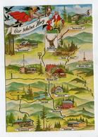 MAP - AK 314079 GERMANY - Der Schöne Harz - Landkarten
